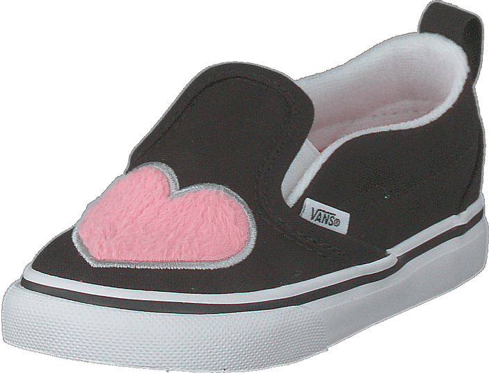 Vans - Td Slip-on V (fur Heart) Strawberry Pink