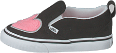 Td Slip-on V (fur Heart) Strawberry Pink