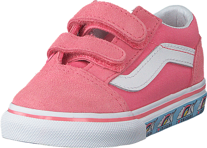 a329763a1 Buy Vans Td Old Skool V (unicorn) Strawberry Pink pink Shoes Online ...