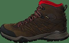 The North Face - Men s Hedgehog Hike Ii Mid Gtx Bone Brown rage Red 6467861443