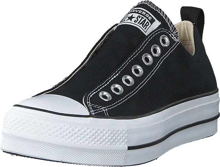 be29afc8 Buy Converse Chuck Taylor Lift Slip Black/white/black grey Shoes ...