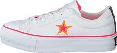 One Star Platform White / Racer Pink / Orange