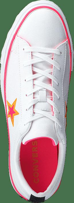 Kjøp Converse One Star Platform White / Racer Pink Orange Sko Online
