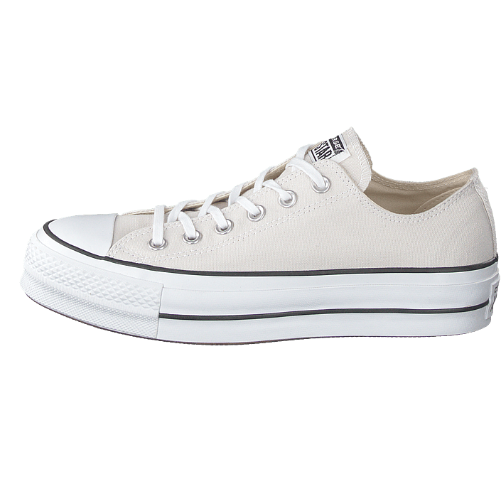 Femme Chaussures Acheter Converse All Star Clean Lift Ox Pale Putty/Blanc Noir Chaussures Online