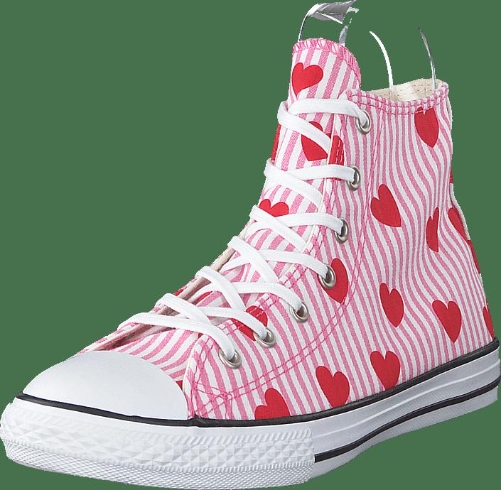 Chuck Taylor All Star Hi Pink/red