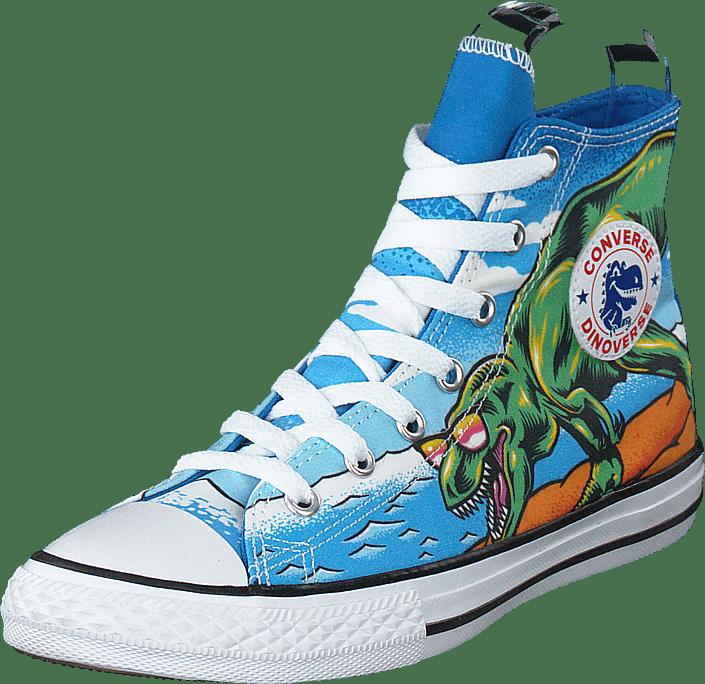 Chuck Taylor Hi Dinoverse Totally Blue/black/white