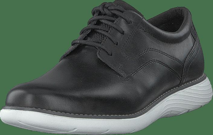 Rockport - Garett Plain Toe Black/white Os