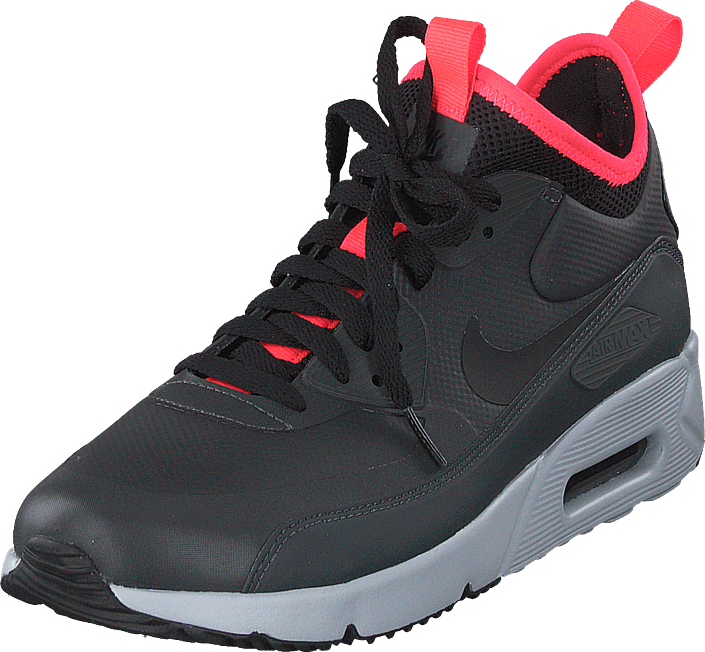 Air Max 90 Ultra Mid Winter Anthracitesolar Redblack