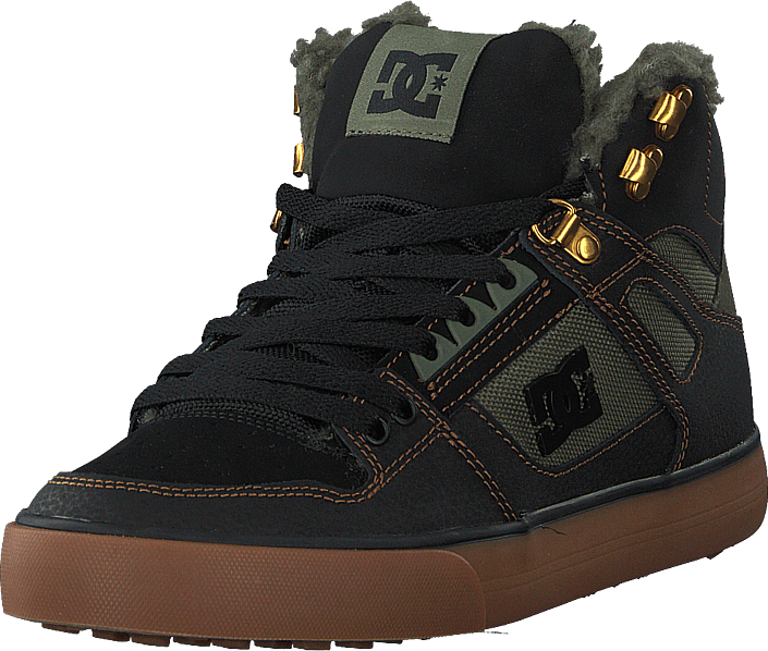 DC Shoes - Pure High-top Wc Wnt Black/olive
