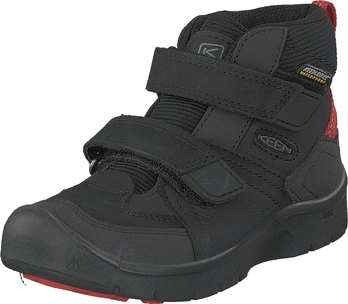 Keen - Hikeport Mid Strap Wp Black/bright Red