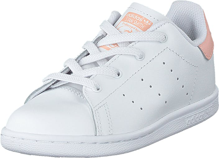 adidas Originals Stan Smith El I Ftwr White/ftwr White/glow Pin, Skor, Sneakers & Sportskor, Sneakers, Vit, Barn, 24