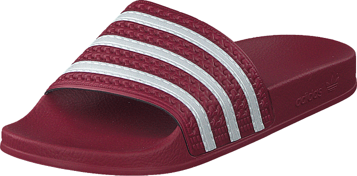 adidas Originals - Adilette Collegiate Burgundy/ftwr White