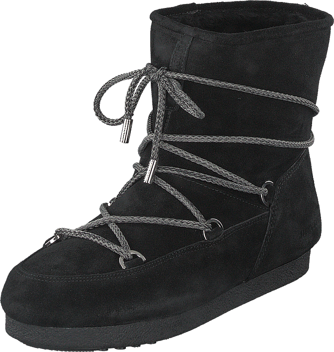 Moon Boot - Far Side Low Suede Black