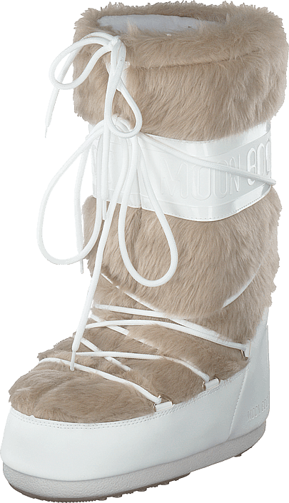 Moon Boot - Classic Faux Fur White