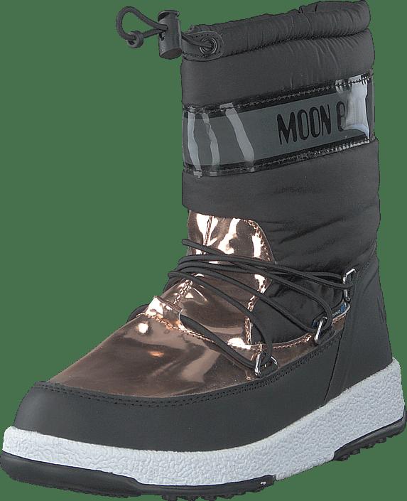 Moon Boot - MB MOON BOOT JR GIRL SOFT WP BLACK-COPPER