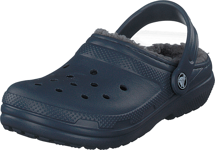 Crocs - Classic Lined Clog K Navy/charcoal