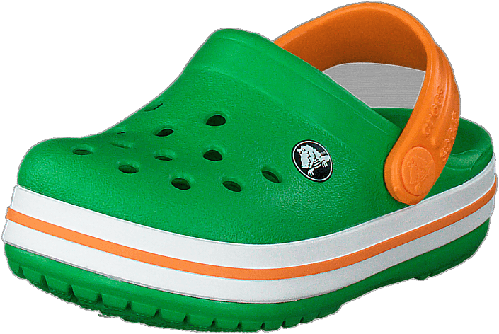 Crocs - Crocband Clog K Grass Green/white/blazing Oran
