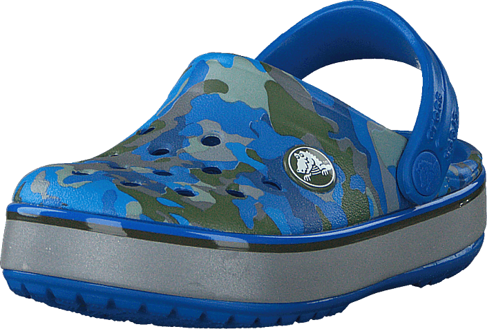 Crocs - Cb Camo Reflect Band Clog K Bright Cobalt