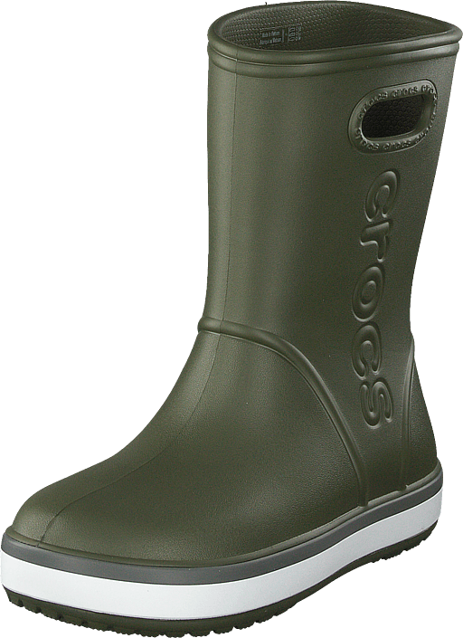 Crocs - Crocband Rain Boot K Army Green/slate Grey