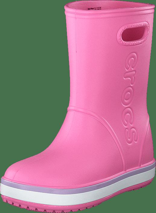 Crocs - Crocband Rain Boot K Pink Lemonade/lavender