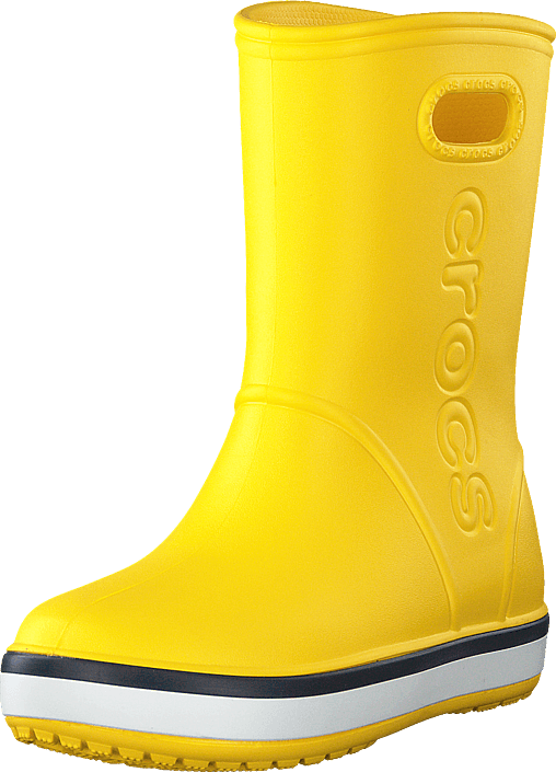 Crocs - Crocband Rain Boot K Yellow/navy