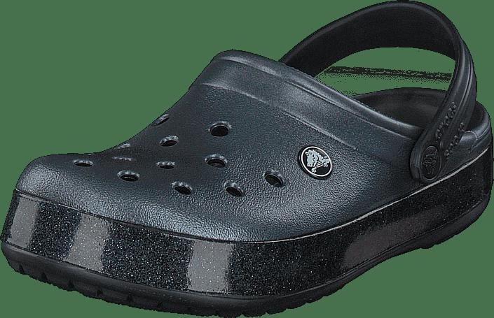 Crocband Printed Clog Metallic Black