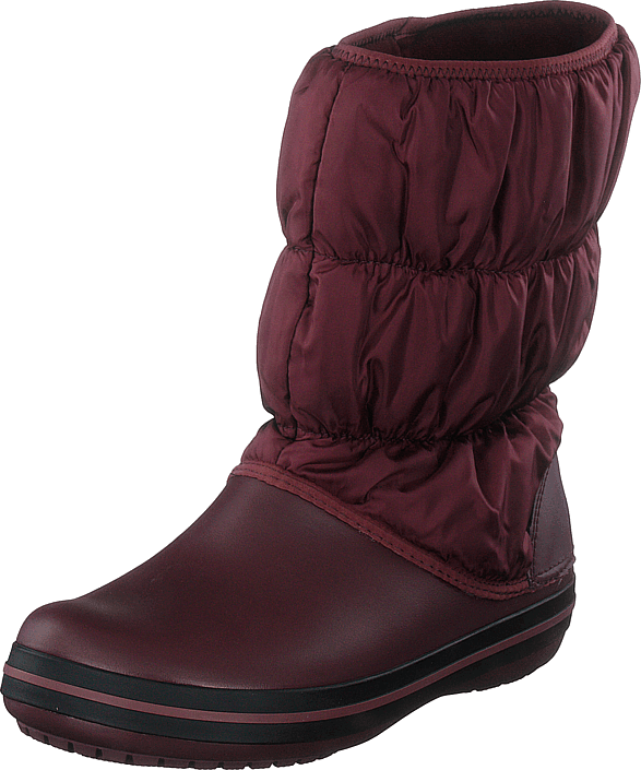 Crocs - Winter Puff Boot Women Burgundy/black