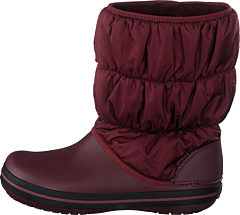 Winter Puff Boot Women Burgundy/black