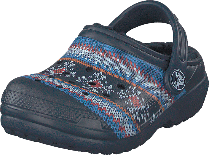 Crocs - Classic Printed Lined Clog K Navy