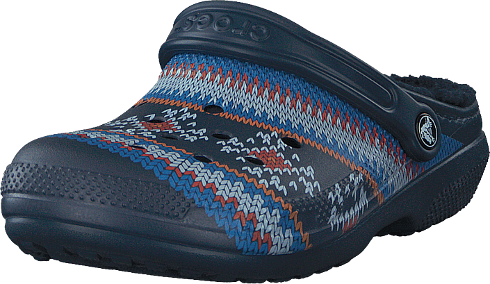 Classic Printed Lined Clog Navy
