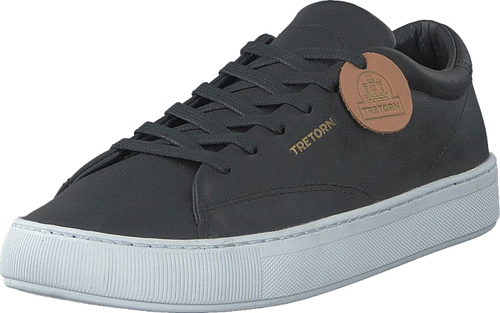 Tretorn Tournament Leather Black/white, Skor, Sneakers & Sportskor, Låga sneakers, Svart, Unisex, 43