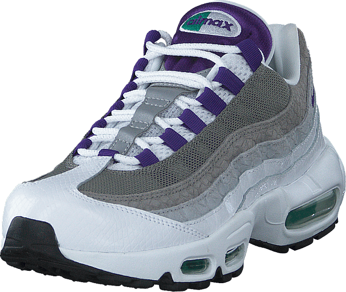 Air Max 95 Lv8 White/court Purple-emerald
