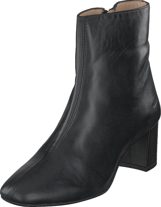 Angulus - Block Heel Boot With Zipper Black
