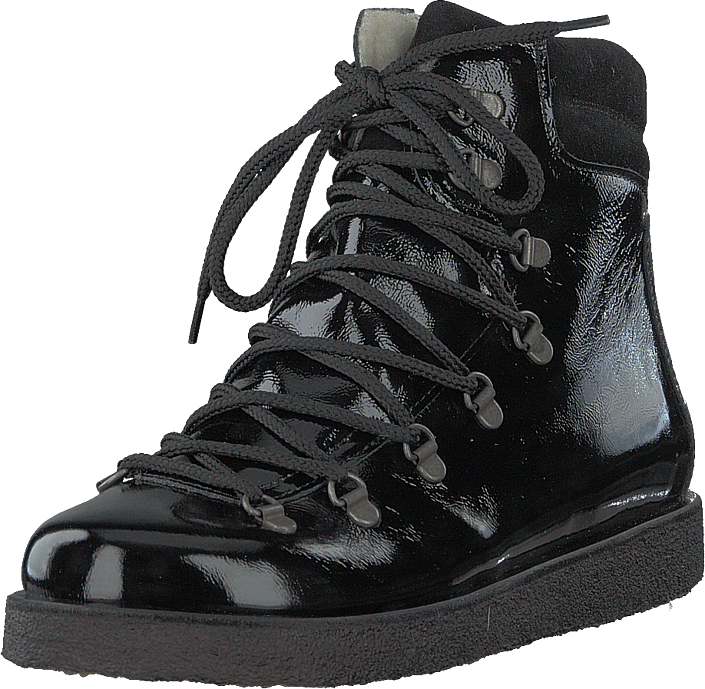 Angulus - Boot With Laces And D-rings Black / Black