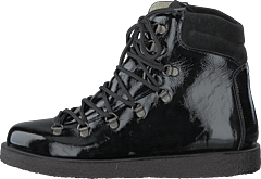Boot With Laces And D-rings Black / Black