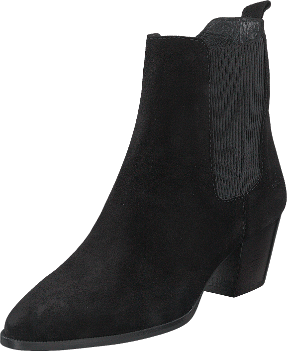 Heeled Boot With Zipper Black/black