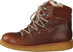 Tex-boot With Laces And Zipper Cognac/brown/brown