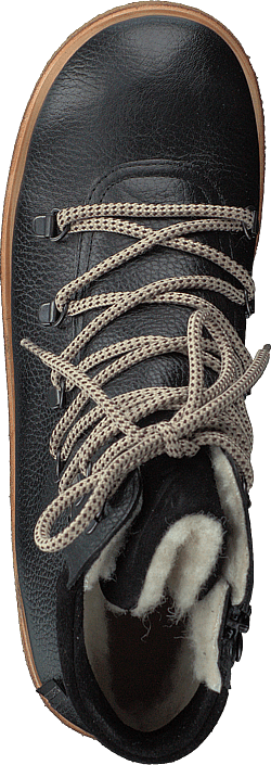 Tex-boot With Laces And Zipper Black