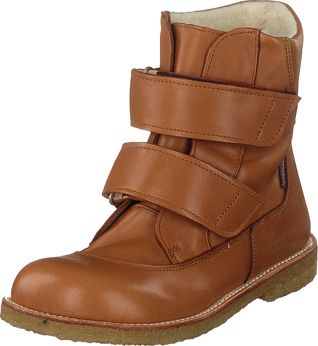 Angulus - Tex-boot With Velcro Straps Cognac