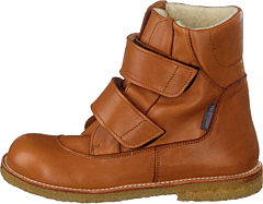 Tex-boot With Velcro Straps Cognac