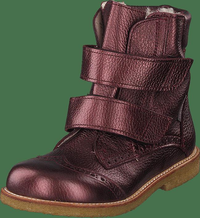 Tex-boot With Velcro Closure Bordeaux Shine