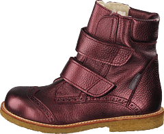 Tex-boot With Velcro Closure Bordeaux Shine