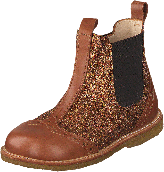 Angulus - Starter Chelsea Boot With Elas Cognac/rust Gl./brown