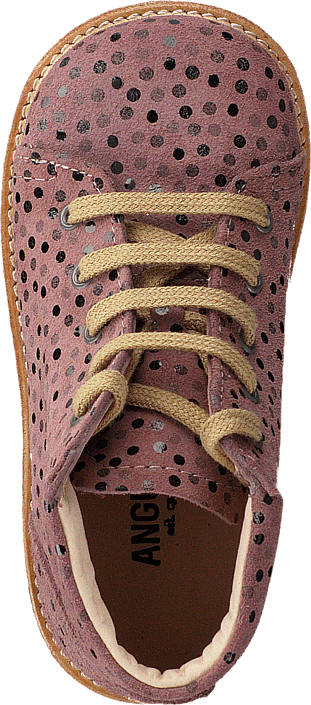 Angulus - Starter Boot With Laces Rose Dot
