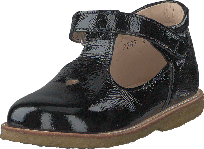 Angulus - Starter Mary Janes With Heart Black