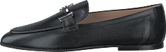 Double T Leather Loafers Nero