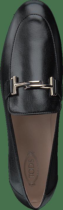 Kjøp Tod's Double T Leather Loafers Nero Sko Online