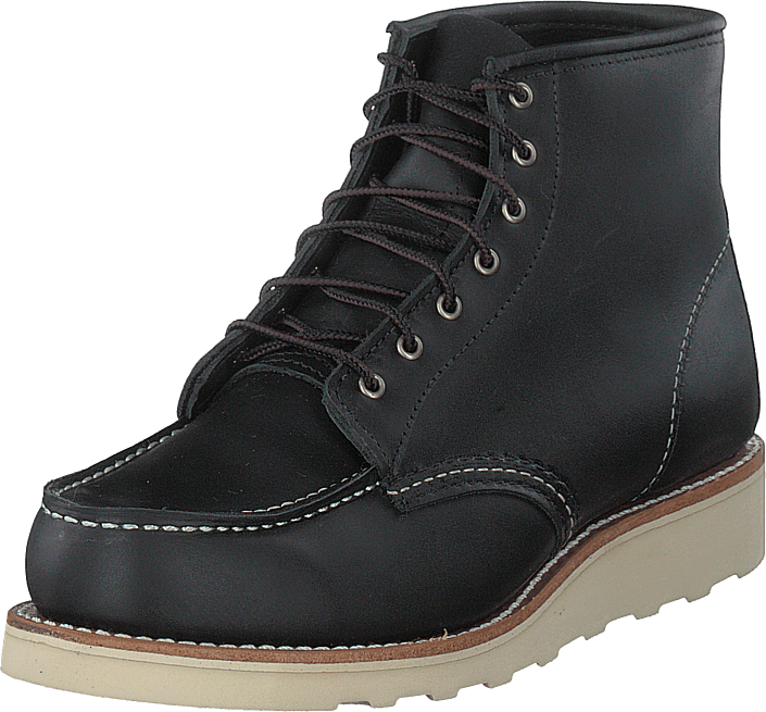 Red Wing - 6-inch Classic Moc Black Boundary Leather