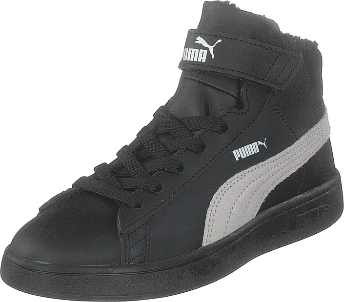 Puma Puma Smash V2 Mid L Fur Ps Puma Black-whisper White, Skor, Sneakers & Sportskor, Höga sneakers, Svart, Barn, 32