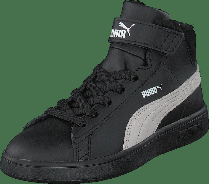 Puma - Puma Smash V2 Mid L Fur Ps Puma Black-whisper White